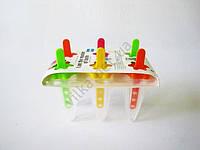 Форма пластмассовая для мороженного из 6-ти узкая  прозрачная