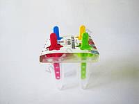 Форма пластмассовая для мороженного из 4-х узкая  прозрачная 17870