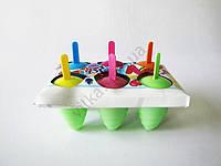 Форма пластмассовая для мороженного из 6-ти цветная 9,5 см.