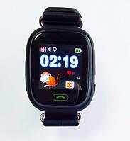 Детские умные часы c gps q90 (q100) черные