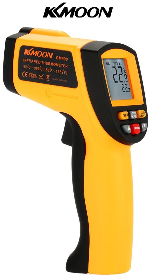 Пирометр GM900 BENETECH KKMOON (бесконтактный термометр) -50°С +900°С. Изменяемый коэффициент излучения
