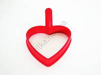 Форма силиконовая для яичницы  Сердце 9,5 х 9 см.