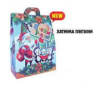 Новогодняя подарочная коробочка 400-500 гр №0010