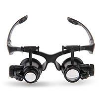 Увеличительные очки  2 окуляра 10X 15X 20X 25X крат лупа ювелирам, часовщикам
