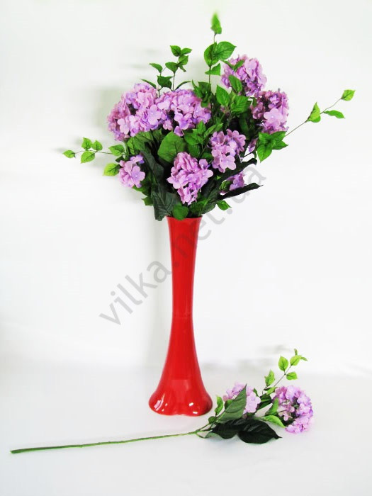 Ветка Гортензии фиолетовая 78 см.