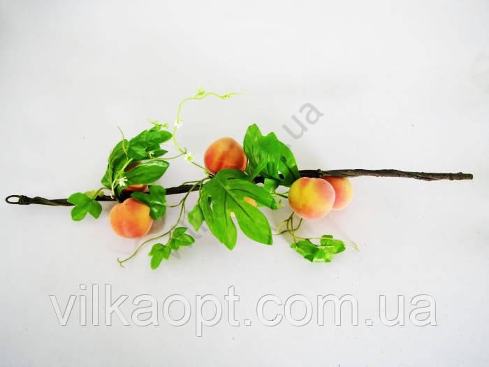 Ветка с персиками 6 шт.  59 см.