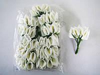 Калла искусственная с лепестками белая  11 см. ( 144 шт. в упаковке )