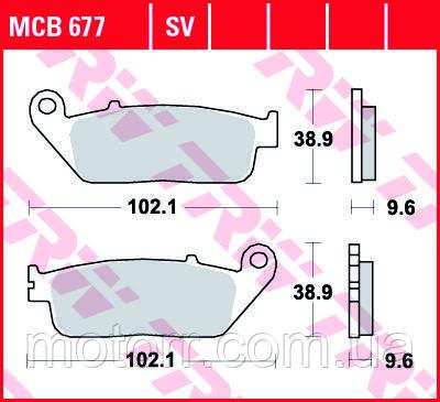 Тормозные колодки TRW / LUCAS MCB677