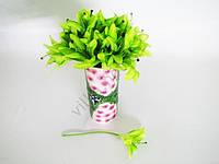 Лилия искусственная светло-зелёная 26 см.
