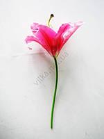 Лилия искусственная ярко-розовая  28 см.