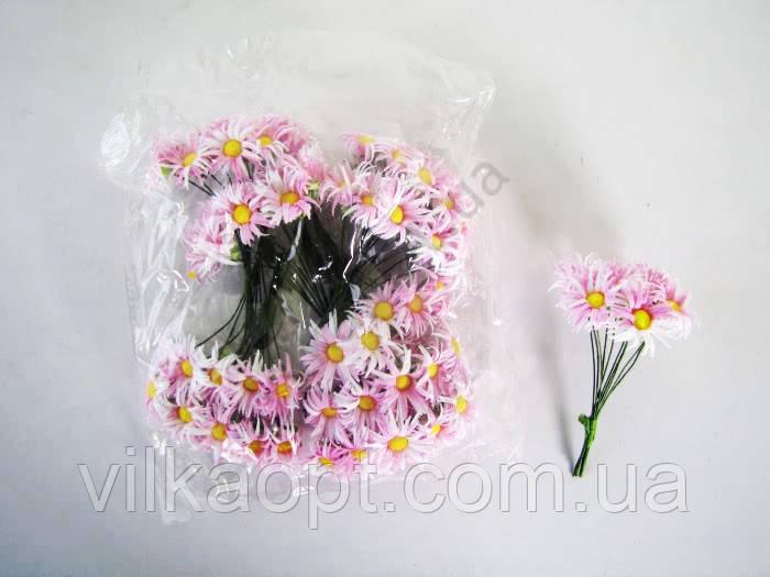 Хризантема искусственная розовая 9 см. ( 144 шт. в упаковке )