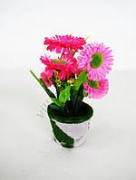 Цветы искусственные в горшочке 17 см. 16056