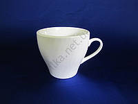 Чашка для чая и кофе, керамическая, белая (150 мл.)(12 штук в упаковке)