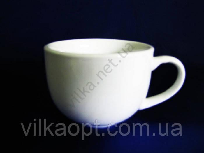 Чашка чайная керамическая, белая (230 мл.)(6 штук в упаковке)