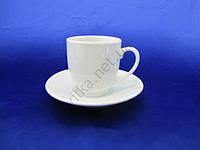 Чашка  белая кофейная с блюдцем  75 мл. (12 шт. в уп.)