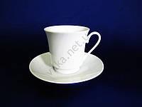 Чашка белая  с блюдцем 150 мл. (6 шт. в уп.)