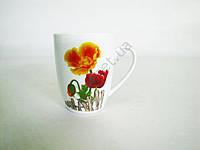 Чашка керамическая 340 мл.   Маки