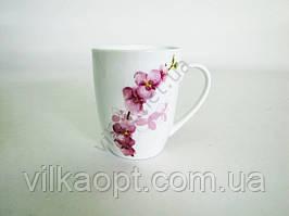 Чашка керамическая 340 мл.  Орхидея