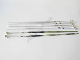 Шампур широкий нержавеющий 62 х 1,3 см.