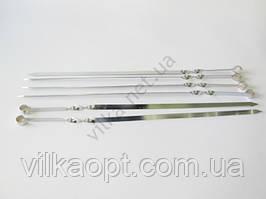 Шампур широкий нержавеющий L 61cm, w 1,2cm