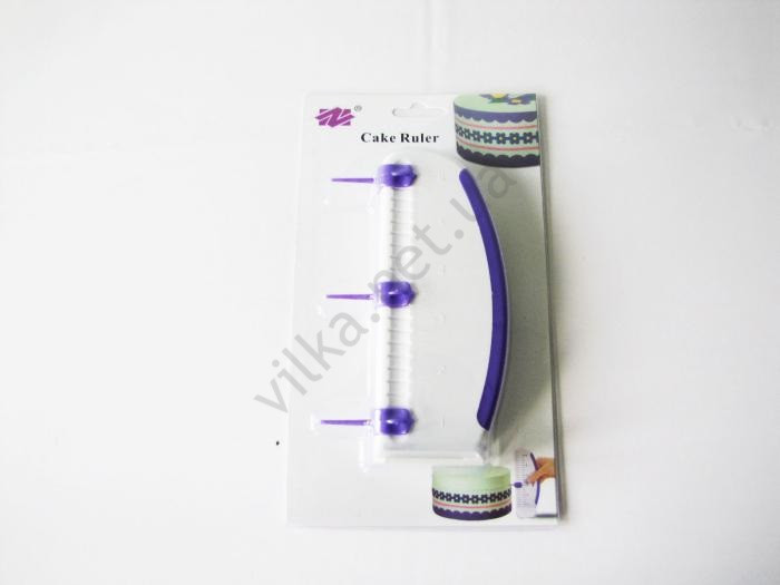 Шпатель кондитерський пластмасовий з поділками 16 х 6,5 див.