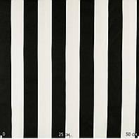 Ткань для штор черно-белая полоса
