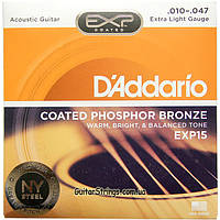 Струны D'Addario EXP15 Coated Phosphor Bronze 10-47