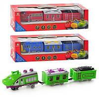Поезд Чаггинтон 661 B-10. Детский игровой паровозик Chuggington 661 B-10, звук, свет, на батарейках, 3 вида