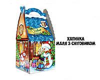 Новогодняя подарочная коробочка 400-600 гр №0013