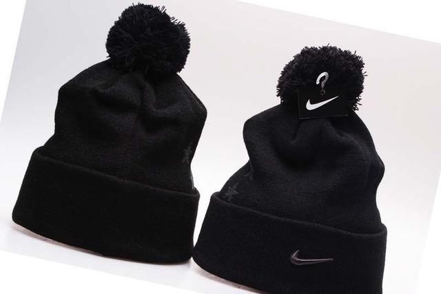 Черная мужская зимняя шапка НАйк