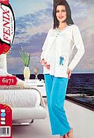 Турецкая хлопковая пижама для беременных и кормящих мам