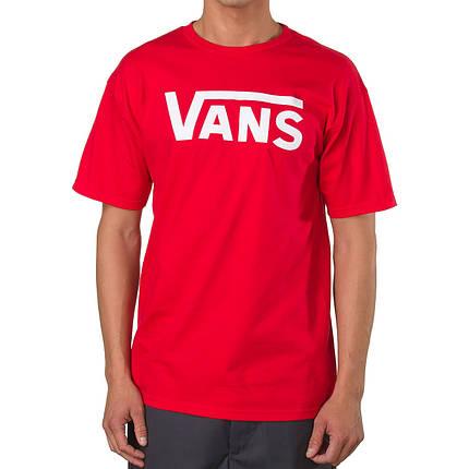 Футболка с принтом Vans мужская | Красная, фото 2