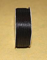 Лента атласная 3 мм чёрная 16609, фото 1