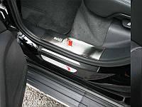 Накладки на пороги S/S Audi Q5 2012+, Ауди КУ5
