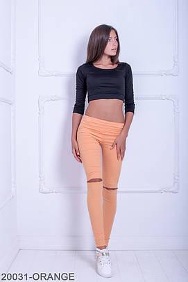 Жіночі літні оранжеві брюки Kendis
