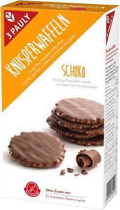 Вафли в шоколаде безглютеновые 3 Pauly, 100г, фото 2