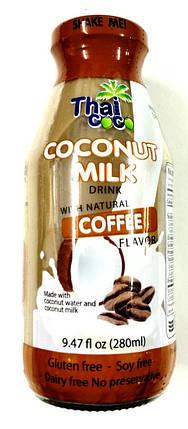 Кокосовое молоко кофейное безглютеновое Thai Coco, 260мл, фото 2