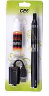 Электронная сигарета eGo CE6 1100мАh + Жидкость ЧЕРНАЯ SKU0000503, фото 1