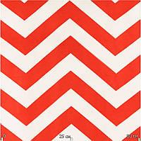Ткань для штор красный зигзаг