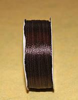 Лента атласная 3 мм тёмно-коричневая 16613, фото 1
