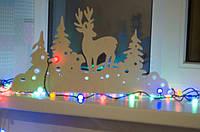 Композиції для прикраси вікна для Нового року з фанери