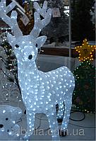 Светодиодная фигура акриловый белый Олень