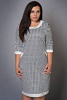 Платье новинка Марта больших размеров красивое  модели в размерах 46,48,50,52,54, 56, 58 светло серое