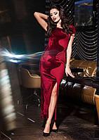 Платье бархатное с дайвингом