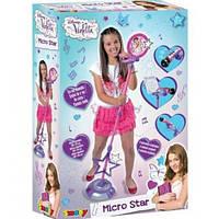 Детский музыкальный инструмент Микрофон с подставкой Violetta Smoby 27223