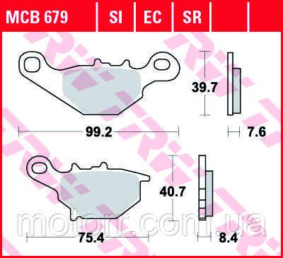 Тормозные колодки TRW / LUCAS MCB679