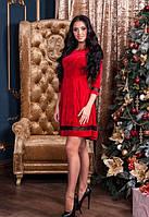 Женское красное платья с бархата