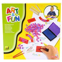 Детский Игровой Набор штампов для Творчества Буквы Simba 6314632