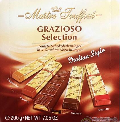 Шоколад Grazioso в стиках Maitre Truffout ассорти 200g, фото 2