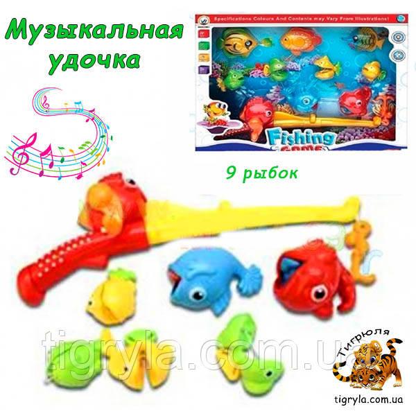 Рыбалка музыкальная удочка - игрушка развивающая